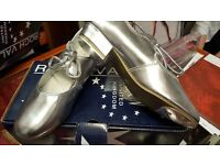 Roch Valley Silver Tap Shoes - Sizes UK 2, 2.5, 3, 3.5, 4.5, 5 & 5.5. Brand New in Box.