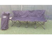 Football sub bench in great condition with back