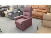 CareCo Milano Rise & Recliner Armchair – Faux Leather - Single Motor Can Deliver