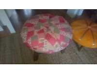 Unique footstool / stool with patchwork design