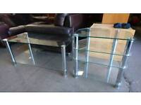 glass tv stands priced each