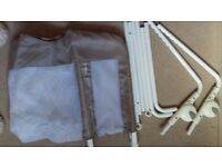 Lindam bed guard - white - excellent condition.