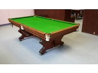 8x4 antique slate bed snooker table mint