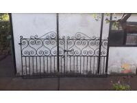Black garden gates