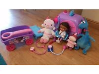 Doc mcstuffins mobile clinic and toys