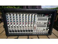 10 channel 500W (total) Power mixer/amplifier