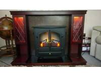 Free standing fire and surround