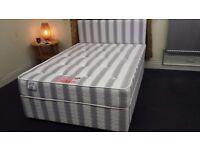 DERBY BEDS DELIVERED - ORTHOPAEDIC BACK CARE DIVAN SET - DOUBLE & KING SIZE - BRAND NEW