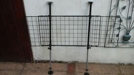 UNIVERSAL MESH DOG GUARD MANUFACTURED FROM DURABLE STEEL WIRE POWDER COATED FOR A RUST RESISTANCE