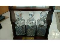 Crystal decanter set Edinburgh crystal lockable caddy