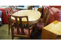 NATHAN extending dining table with 6 chairs