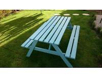 Garden picnic bench large