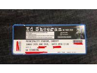 2x Ed Sheeran standing tickets Sunday 24th June