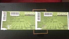 2x runrig tickets and happy bus