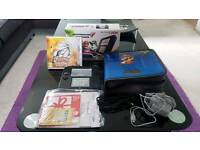 Nintendo 2DS * Blue & Black * Mario Kart 7 & Pokemon Sun * Boxed * Like New!