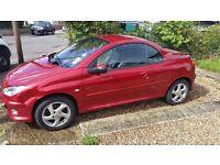 2003 1.6 Peugeot 206cc Allure Metallic Red, Convertible, Leather Interior