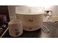 Tommee Tippee steriliser & 2 bottle warmers bundle