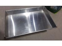 600 x 400 x 60mm stainless steel catering trays suit a kitchen bakery butcher, great condition
