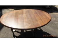 vintage dining table with barley twist legs