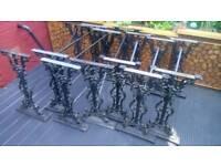 Used cast iron table base