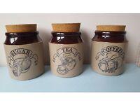 Vintage tea/coffee/sugar cannisters