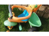 Smart Trike Toddler Tricycle with Removable Parent Push-Along Handle