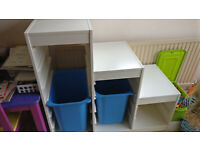 IKEA Trofast unit in white with 2 boxes