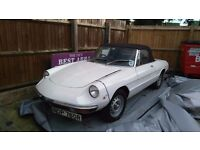 Alfa Romeo Spider 2000 Veloce. Fast rising classic with enormous pedigree.