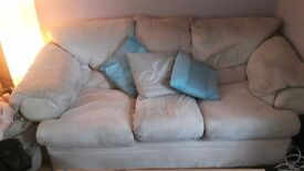 3 & 2 seater faux suede
