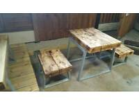 New Childs table and bench set
