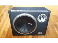 Vibe Black Air 12 inch 1600w sub, box, amp & cables