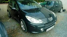 07 Peugeot 307 5 door Clean car Black Can be seen anytime