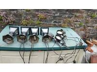 Job lot of outdoor garden lanterns and spot lights