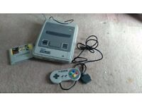SNES Super Nintendo Fully working with controller and Super Mario Game
