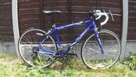 APOLLO FUSION 14 SPEED RACING BIKE (MED) 49cm LIGHTWEIGHT ALLOY FRAME EXC COND HARDLY BEEN USED