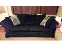 2 x 3 seater sofa and 1 x footstool