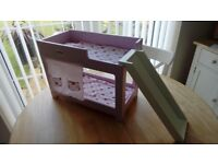 Baby Born dolls bunk bed with slide