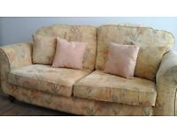 3 seater sofa and 2 armchairs - FREE