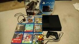 Sony PlayStation 4 (PS4) & 8 games Inc. FIFA17