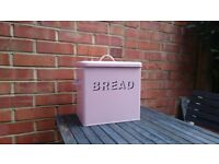 Vintage Style Pink Enamel Bread Bin Retro - pick up from Ealing