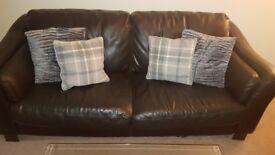 Leather sofa 2&3