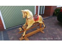 Rocking horse (fibre glass) from original lath & plaster type