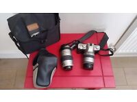 Pentax MZ-5n camera and 2 lenses 80-320 and 28-80