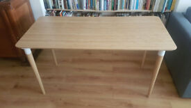 Bamboo Table 140x65cm - £40 O.N.O. (also selling black office chair)