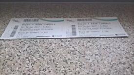 Queen with Adam Lambert x 2 tickets BarclayCard Arena Birmingham Sat 16th December 2017