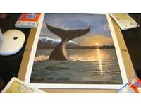 """Lionel Barnett """"A Whale Tail"""" Rare Limited Edition Lithograph"""