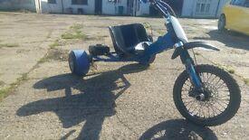 Custom Drift Trike 125 race pitbike engine