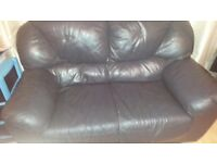 Navy 2 Seater Leather Sofa Free