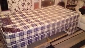 2 Single Divan beds with single draw storage