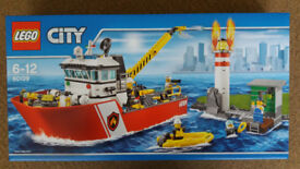 Lego 60109 City Fire Boat - Brand New